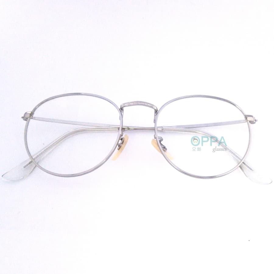 Jual Frame Kacamata Korea Pria Wanita Oppa Op03 Sv Silver Bulat Transparant Fashion