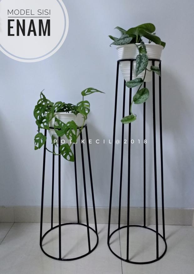 Standing planter model 6 sisi / standing planter minimalis / rak pot