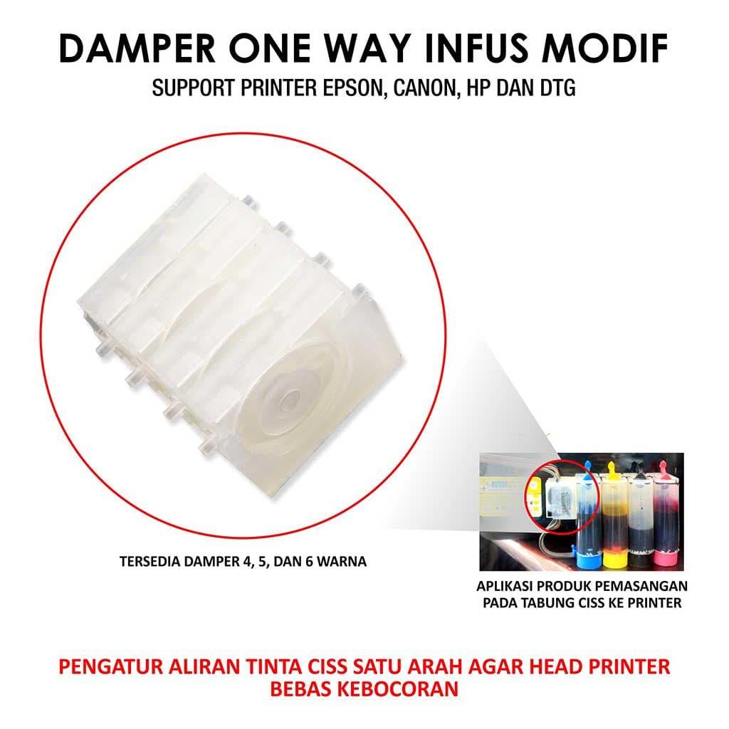 Jual Damper One Way 4 Warna Fast Print Jakarta Tokopedia Selang Infus Printer Jalur