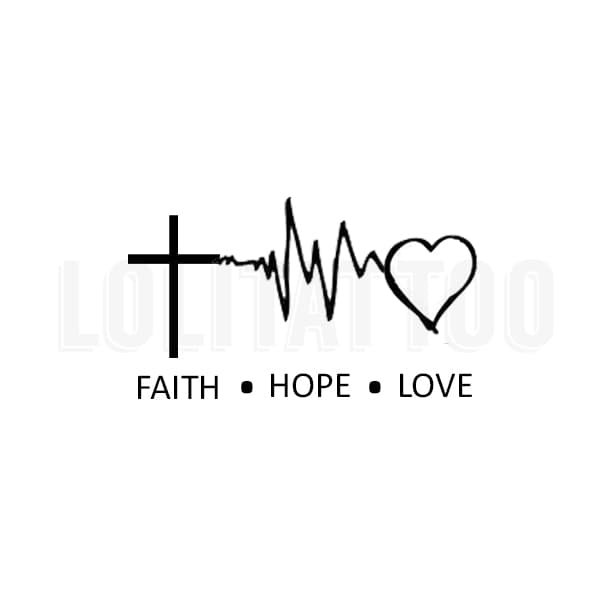 Lolitattoo Temporary Tattoo Faith Hope Love thumbnail