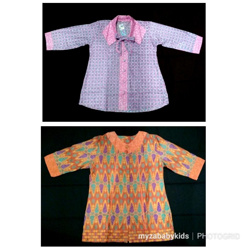 Baju blouse batik kerja wanita Lengan 34 size XL