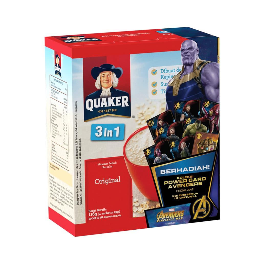 Jual Quaker 3 In 1 Original Box 4s 4 Pcs Instant Oatmeal Kari Ayam 6 Gwp P