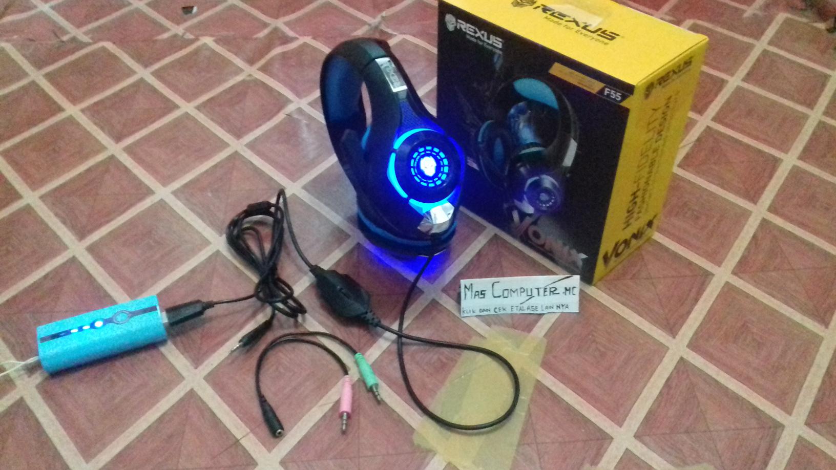 Jual Headset Rexus F55 Vonix Gaming Bisa Di Hp Biru Mas Computer Tokopedia