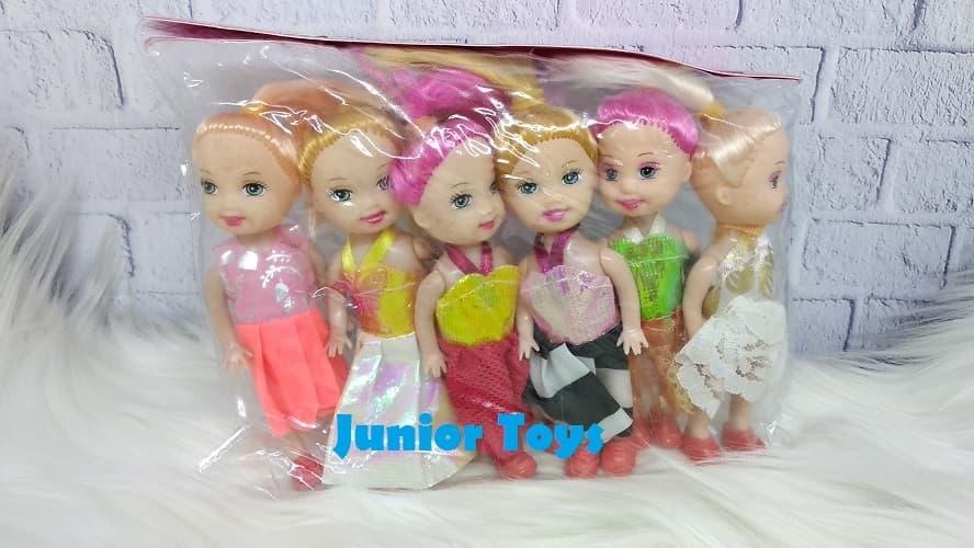 Mainan Boneka Anak Barbie 6 Pcs