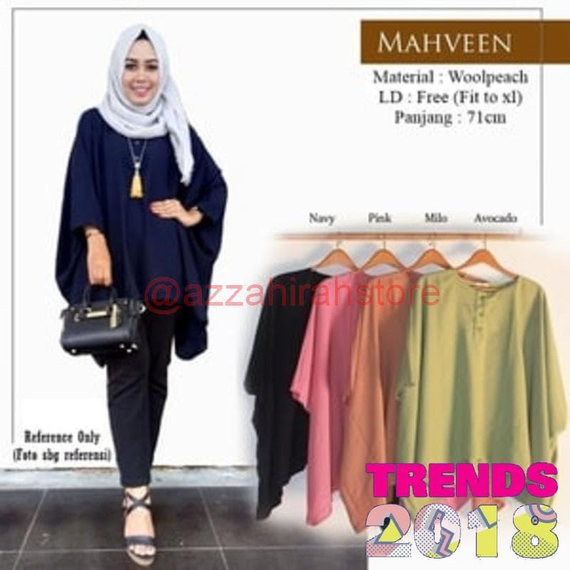 Baju & Atasan Wanita Muslim Fashion OOTD Casual Kuliah Mahveen Tunik