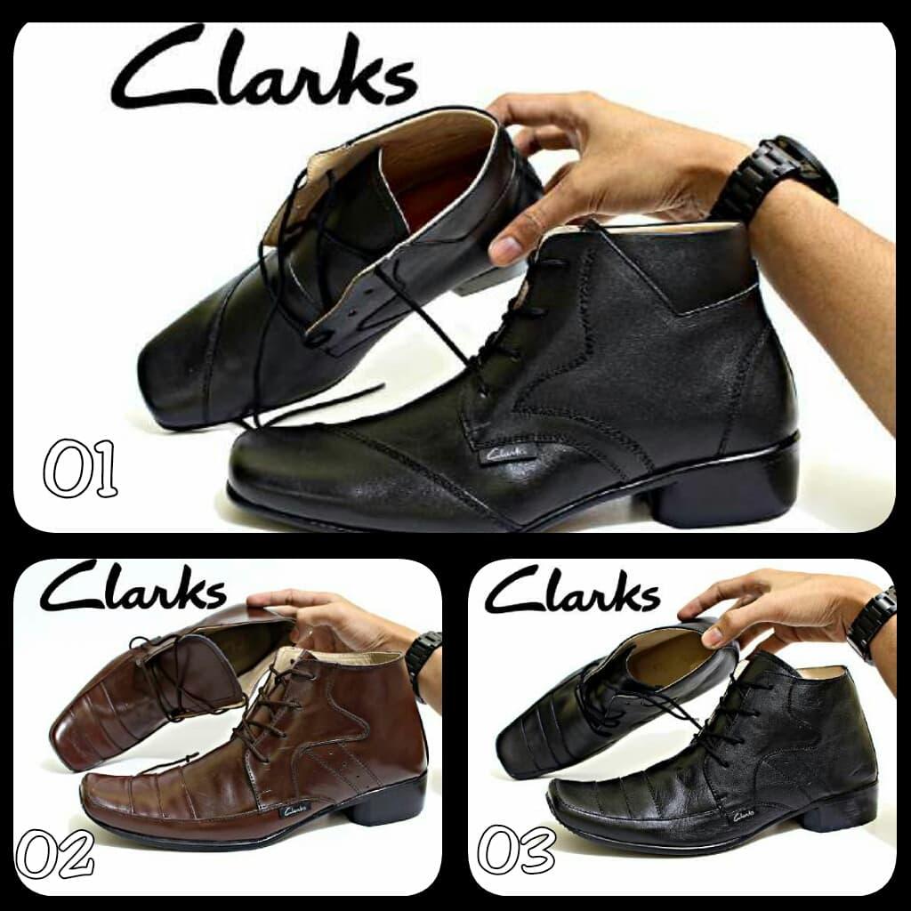 Jual Sepatu Formal Pria   Sepatu Pantofel Clarks Zipper Kulit Asli  FS ... 098cf7fa53