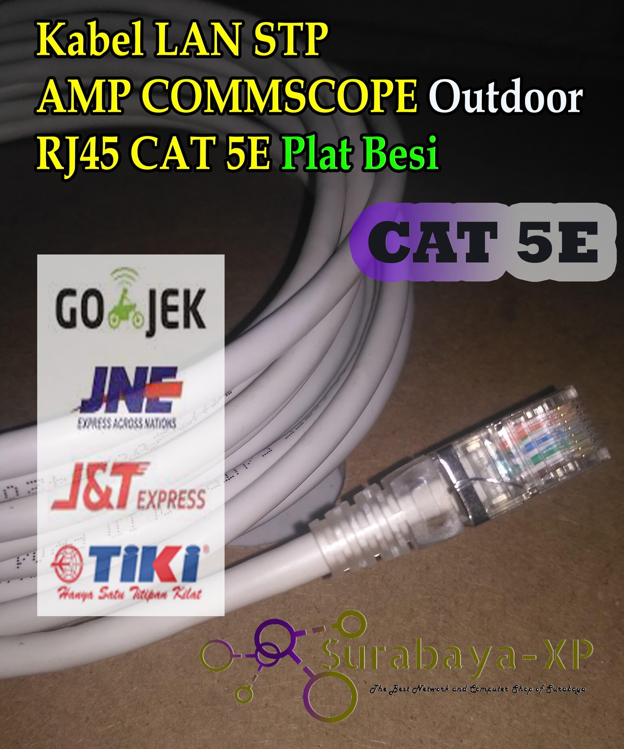 Jual Kabel Lan Utp Stp Amp Commscope 20m 20meter 20 M Meter Cat6 Outdoor Surabaya
