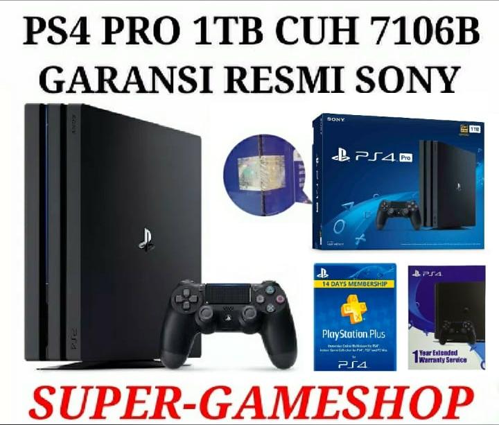 Ps4 Pro 1tb Cuh 7006b Garansi Sony Asia  - Blanja.com