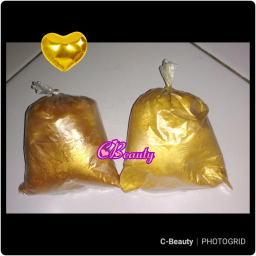 Bubuk Metalik Gold 100 gram - Pearl Metalic Emas 100gr Murah thumbnail