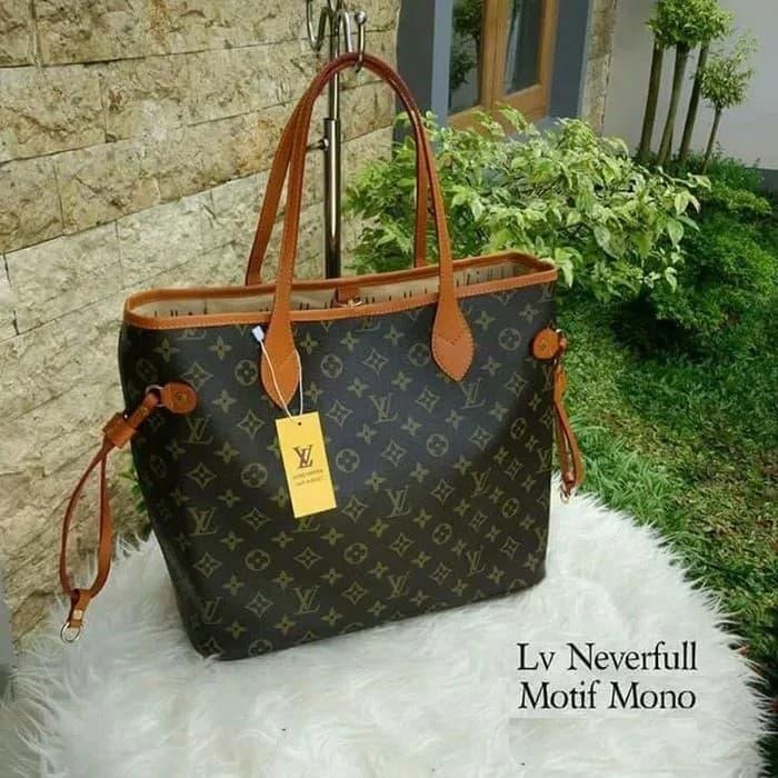 Jual Tas Wanita Lv Neverfull Import Branded Handbag Louis Vuitton ... 687feceaee