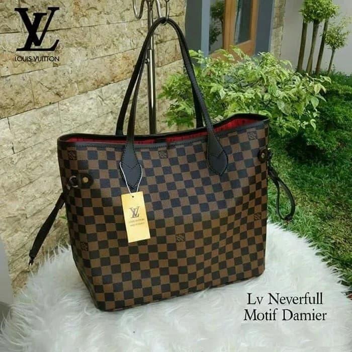 Jual Tas Wanita Lv Neverfull Louis Vuitton Import Branded Handbag ... 26b2aba33b