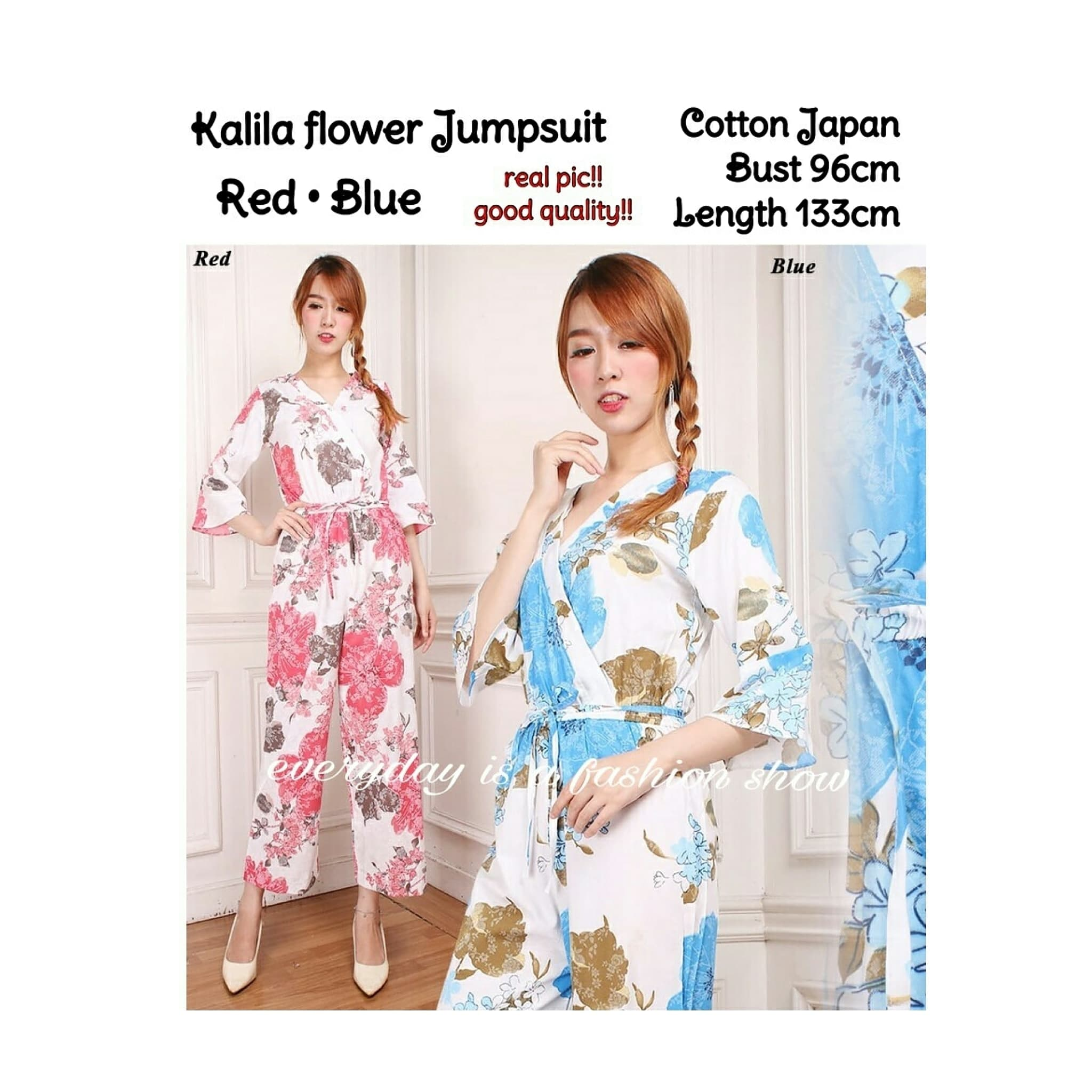 Jual Kalila Flower Long Jumpsuit 88000 Zefanya Fashion Tokopedia Dress