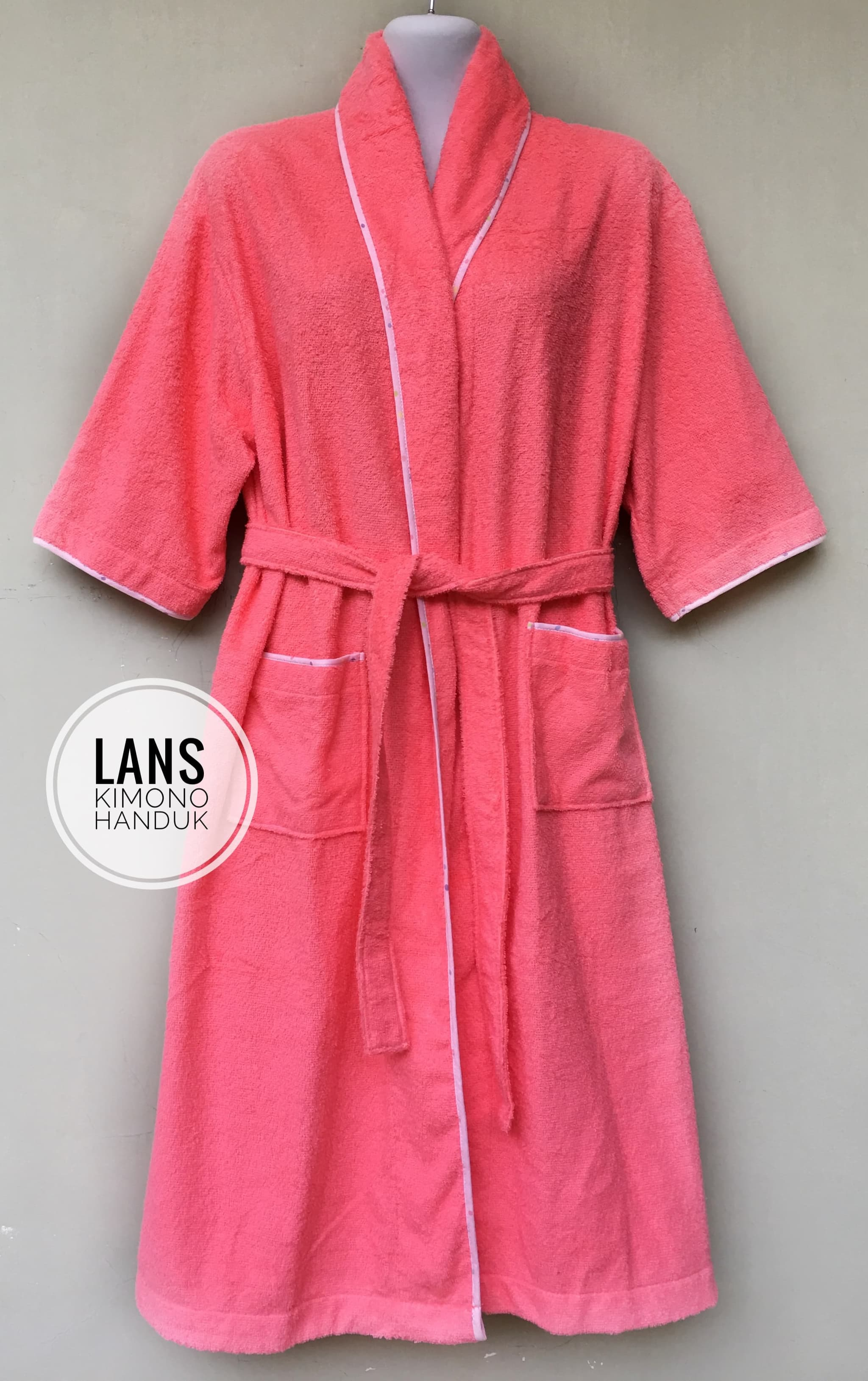 Jual Kimono Handuk Dewasa Lans Tokopedia Mandi Renang Fit To L Xl