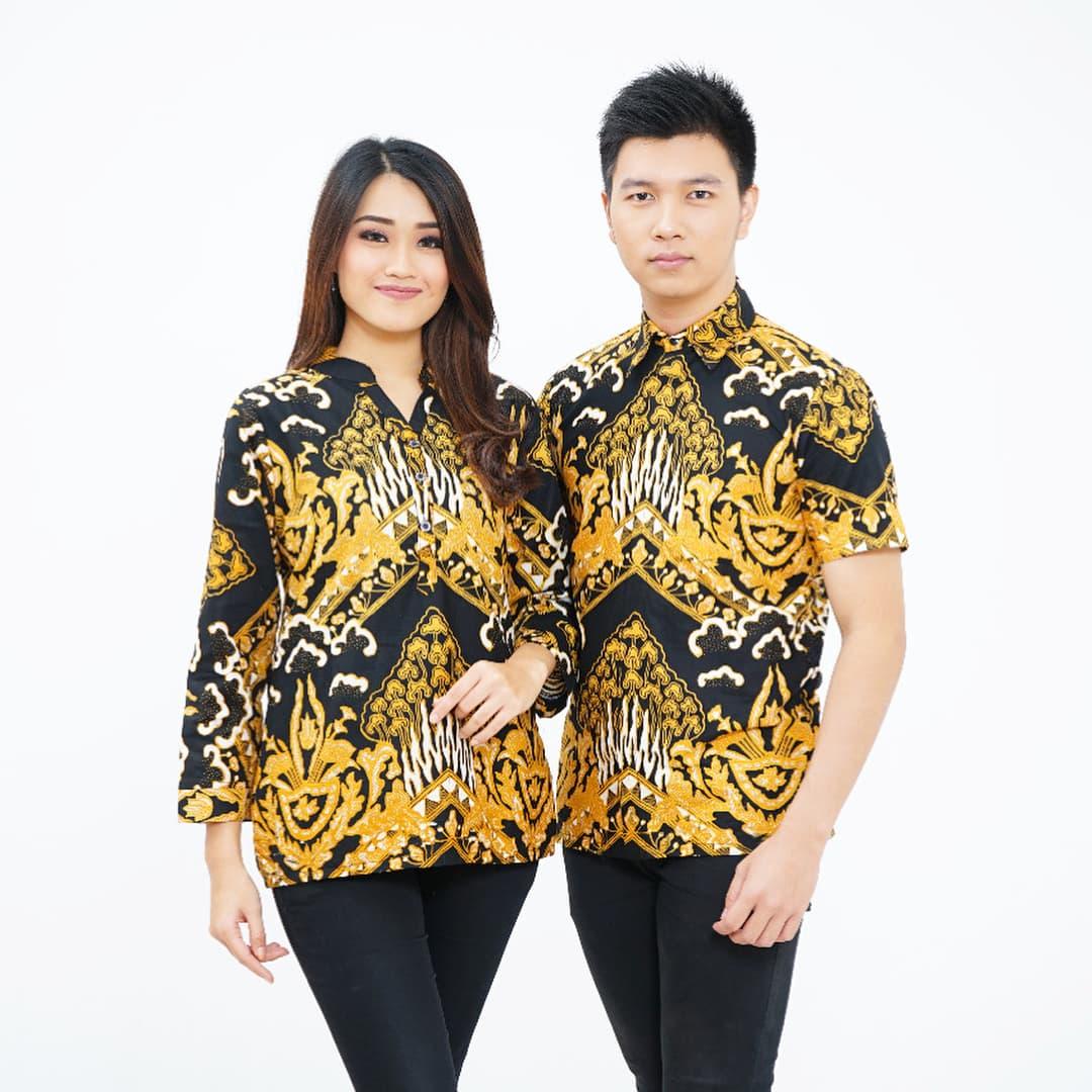 CPK277 Seragam Batik Kerja Baju Atasan Kemeja Wanita Pria Couple