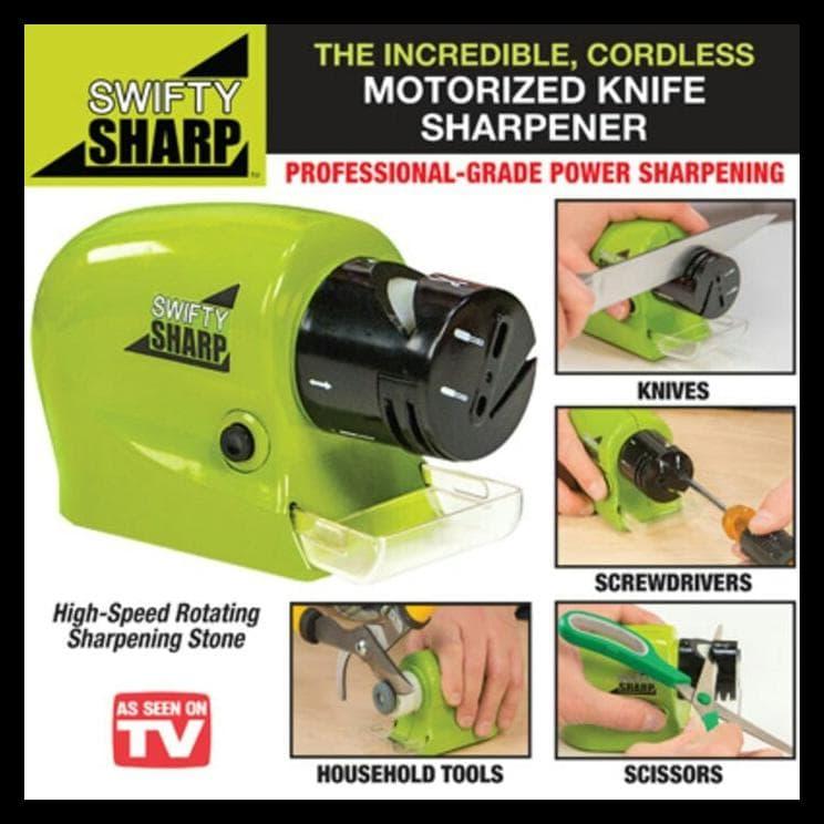 Swifty Sharp Pengasah Pisau Motorized Knife Sharpener - 1 ... Source · 35676410_35596672-3b71-4c6a-9926-b1247a138366_744_744.jpg