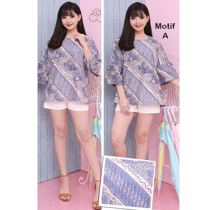 Massie Top Jumbo Motif A - Baju Batik Jumbo   Blouse Wanita Bigsize -  Blanja. 3402539b8f
