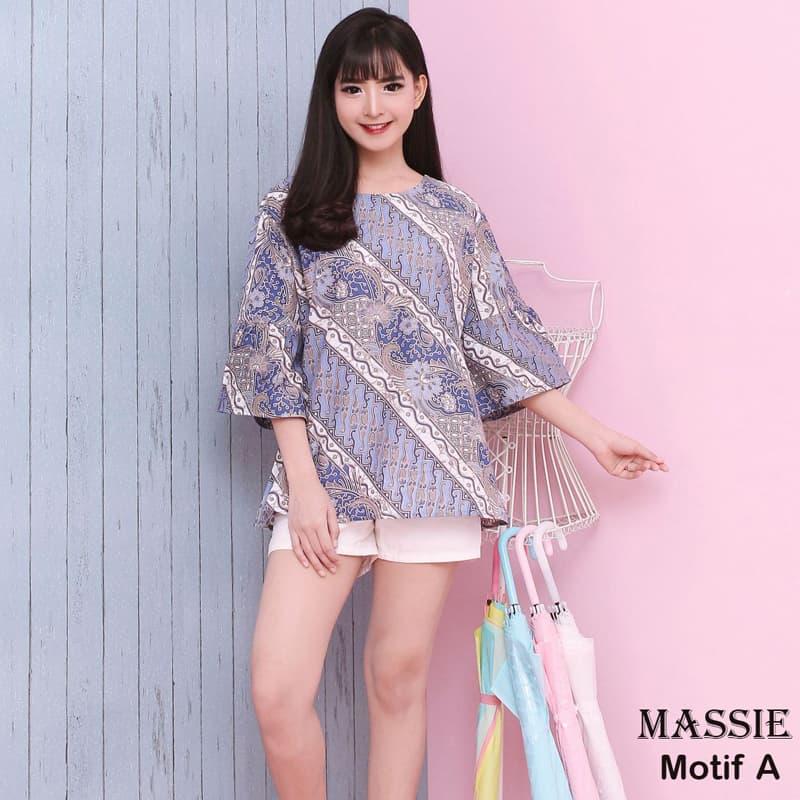 Jual Massie Top Jumbo Motif A - Baju Batik Jumbo   Blouse Wanita ... 40639a028d