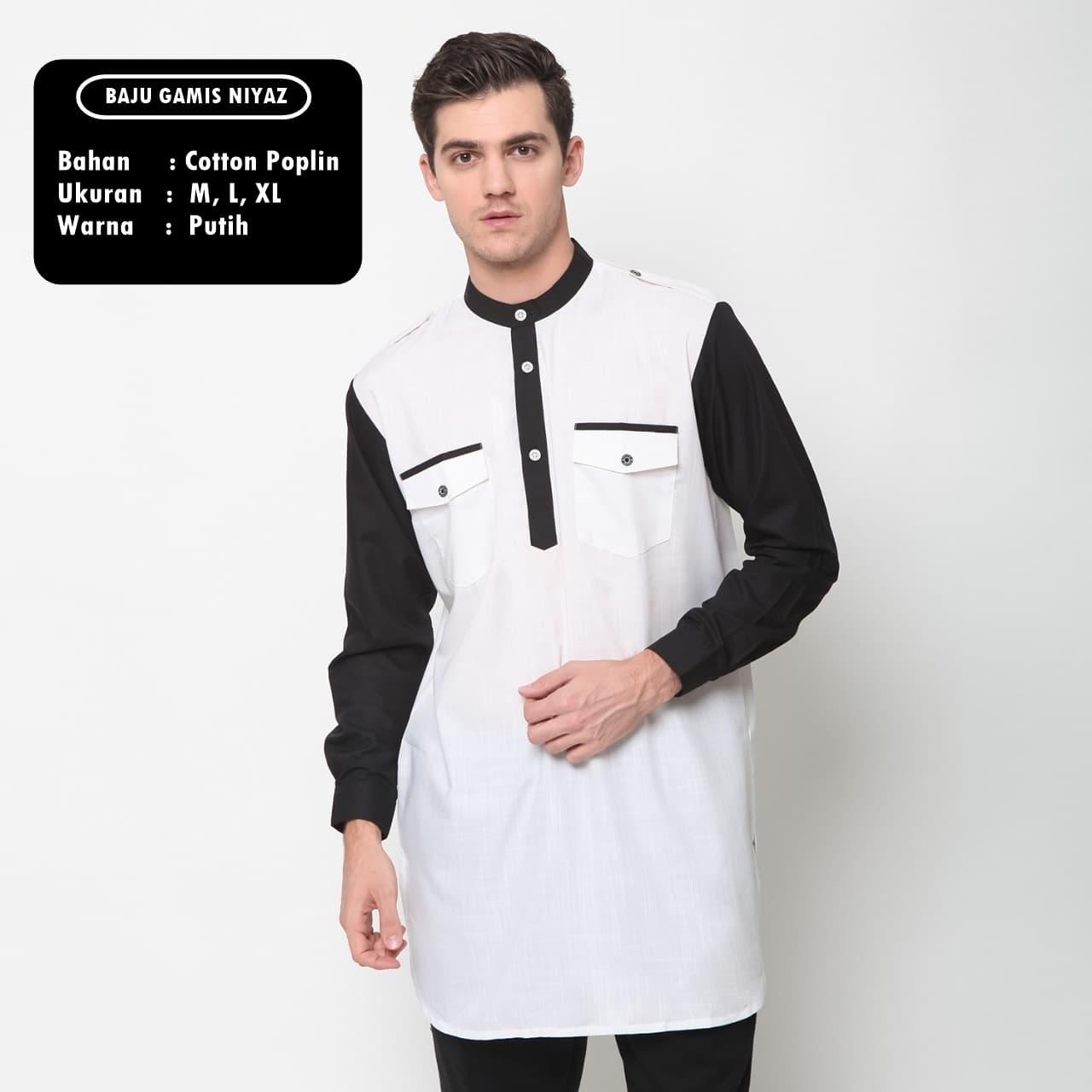 Baju Koko Gamis Niyaz - Zayidan Putih