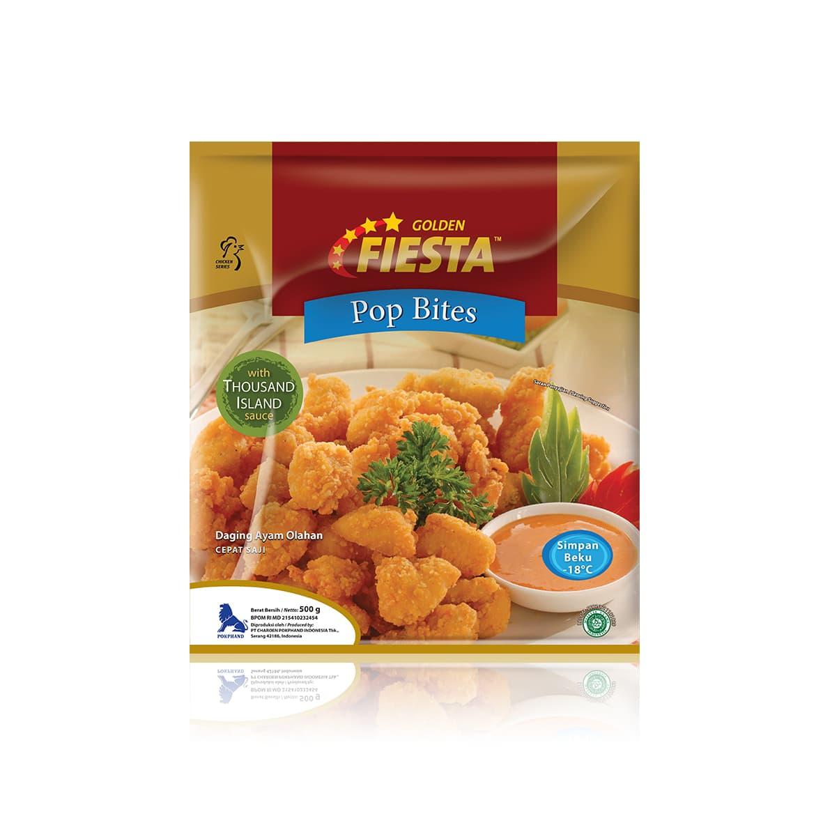 Fiesta Paket Golden Pop Bites Makanan Instant 500 G (3 Pcs) - Blanja.com