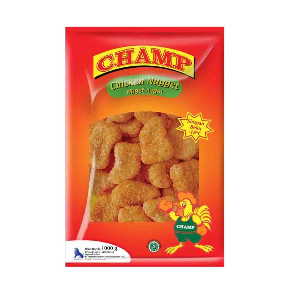 Champ Paket Nugget Makanan Instan 1000 G (2 Pcs) - Blanja.com