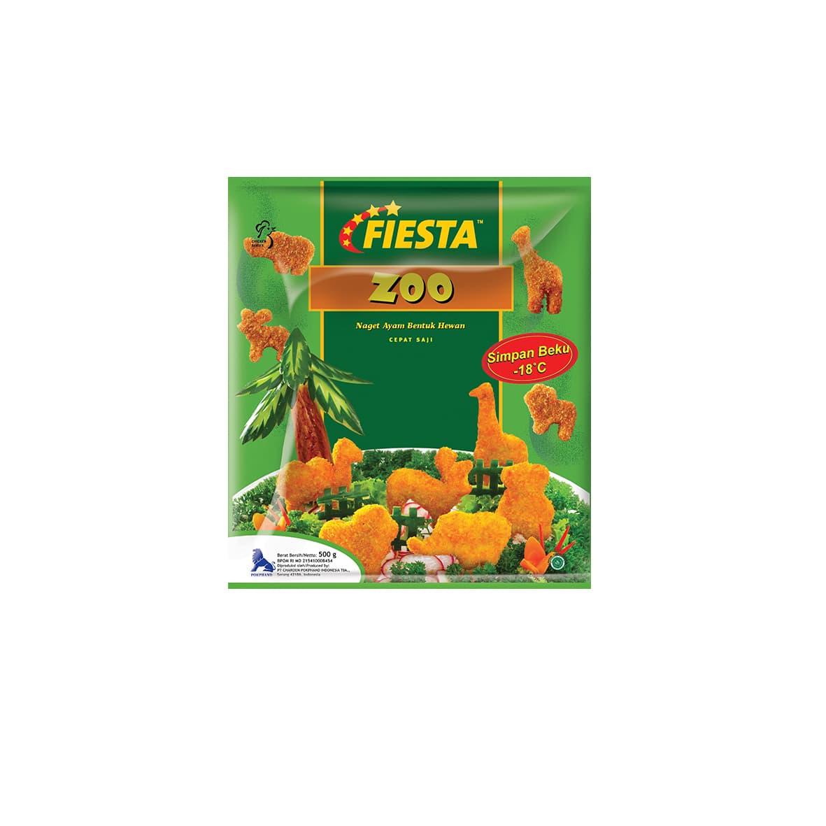 Fiesta Paket Nugget Zoo Makanan Instan 500 G (3 Pcs) - Blanja.com