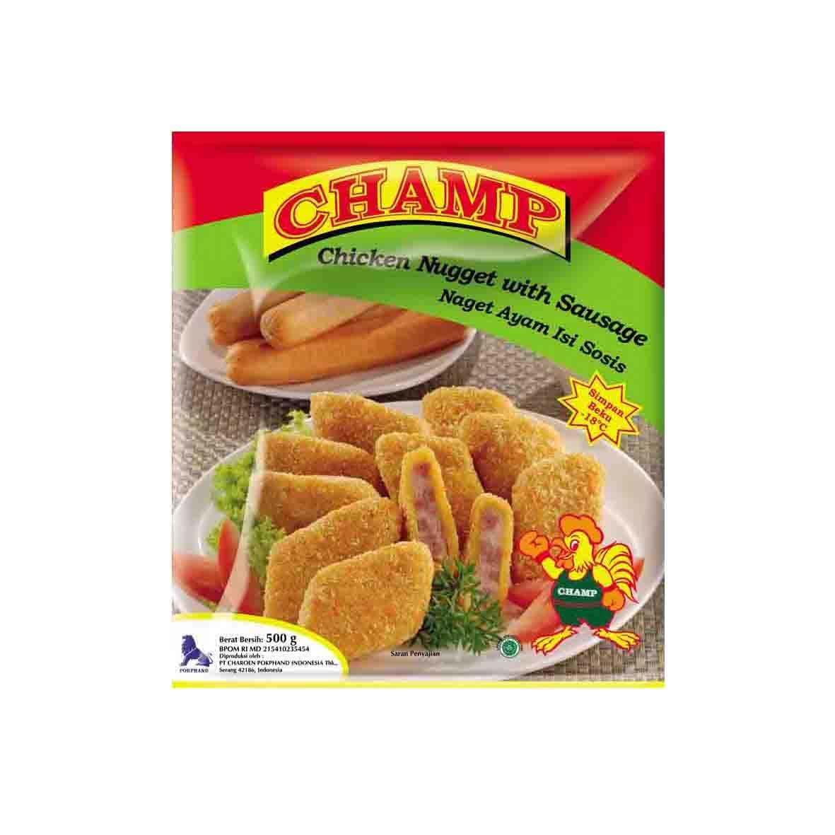 Champ Paket Nugget Sosis Makanan Instant 500 G (4 Pcs)