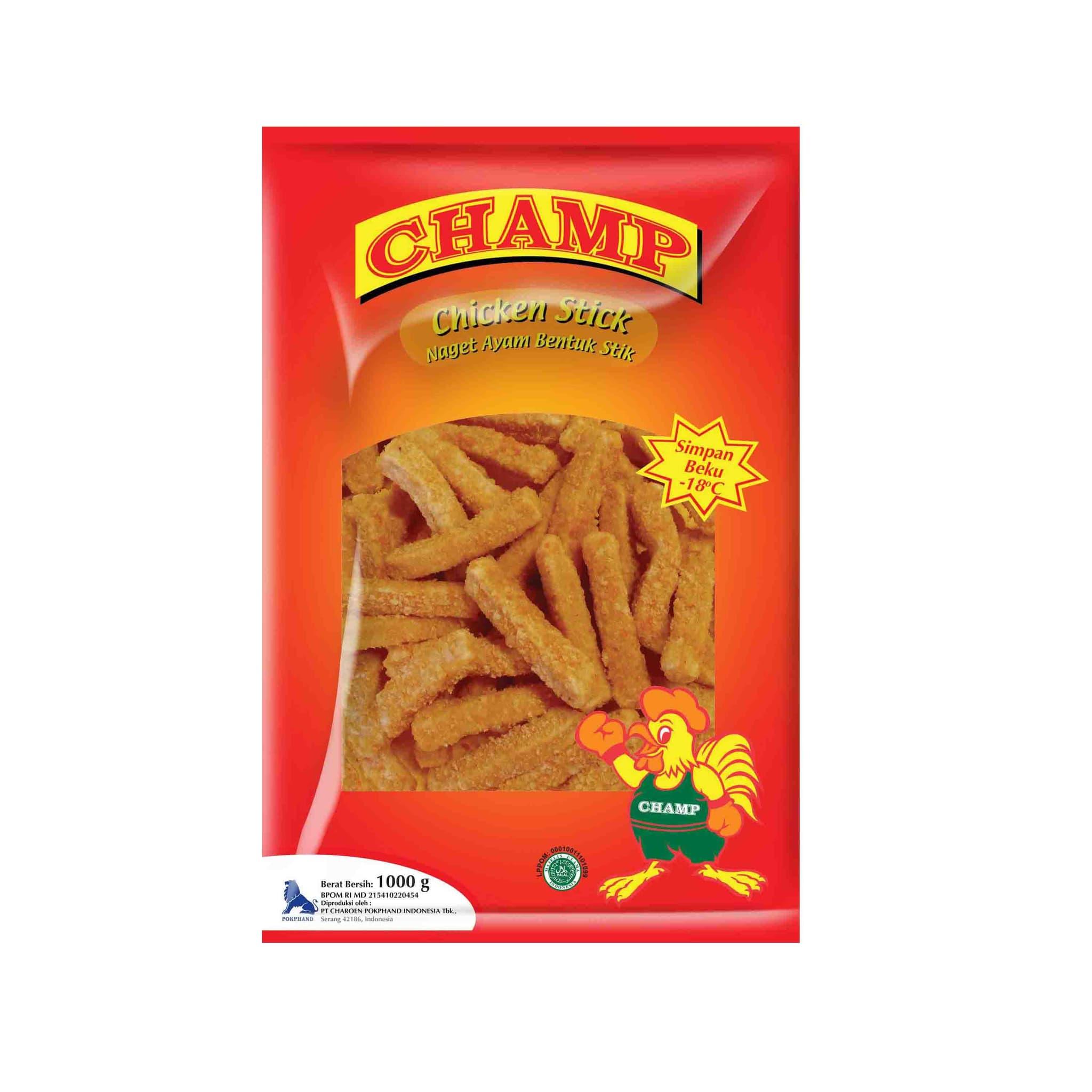 Champ Paket Chicken Stick Makanan Instan 1000 G (2 Pcs) - Blanja.com