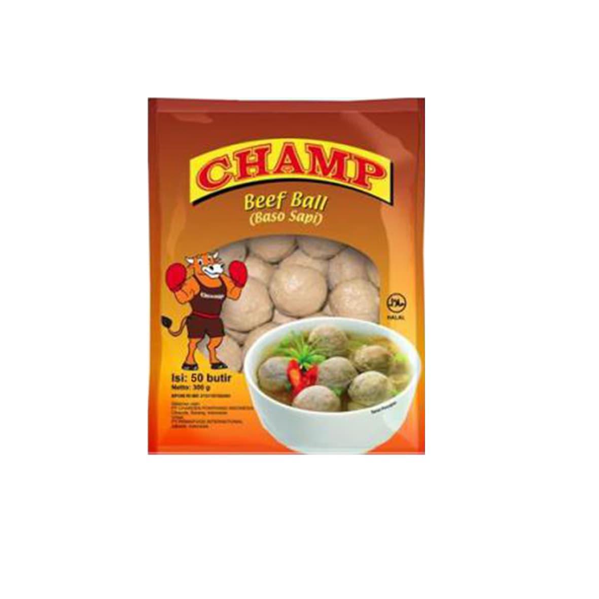 Champ Paket Beef Ball Makanan Instant 500 G/50 Butir (3 Pcs)