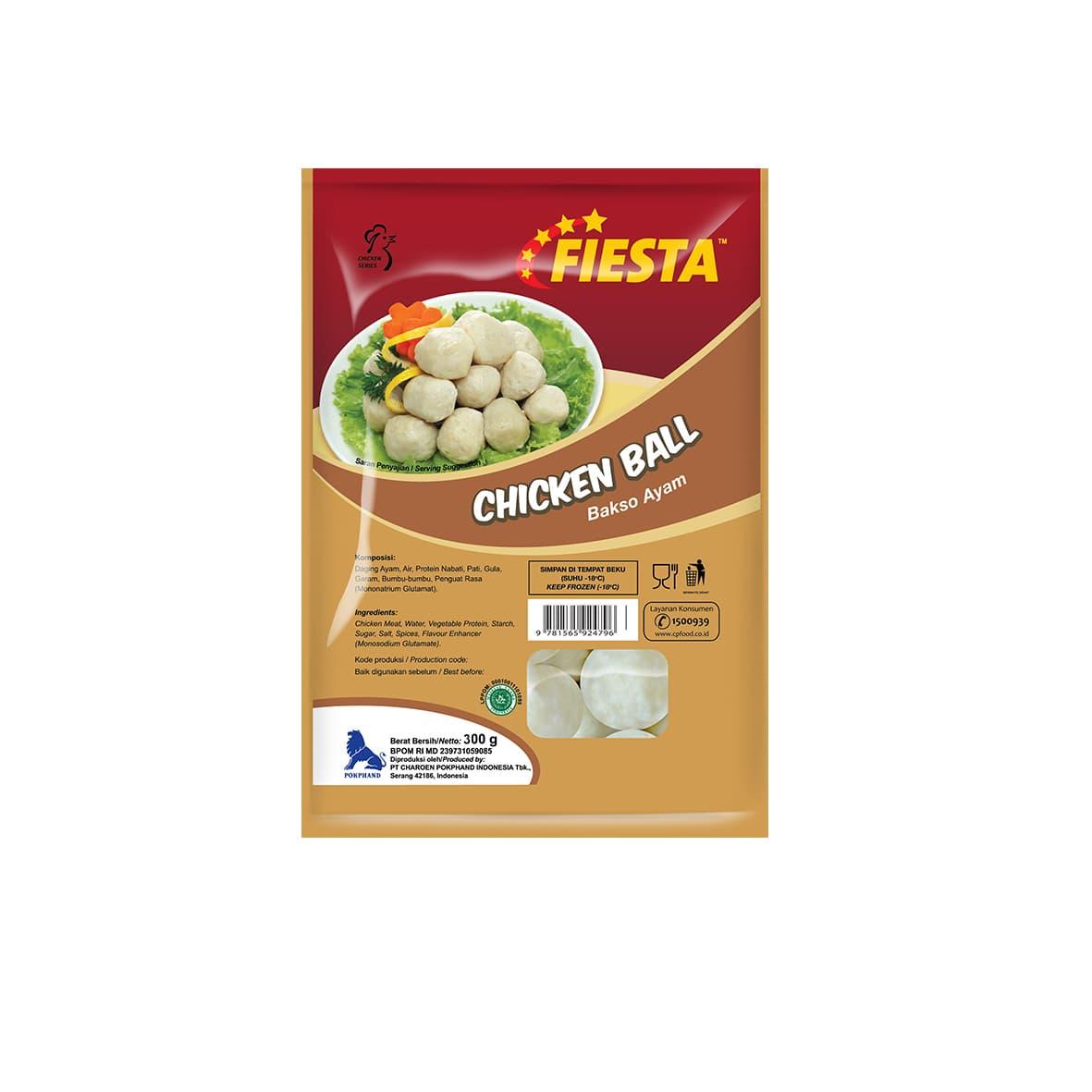 Fiesta Paket Chicken Ball Makanan Instan 300 G (5 Pcs)