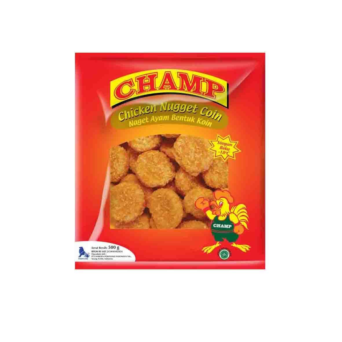 Champ Paket Nugget Coin Makanan Instant 500 G (4 Pcs)