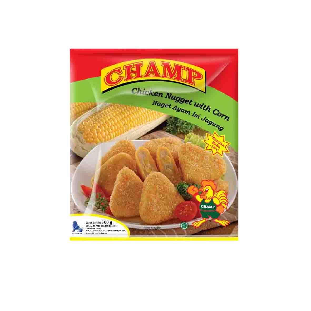 Champ Paket Nugget Jagung Makanan Instant 500 G (4 Pcs)