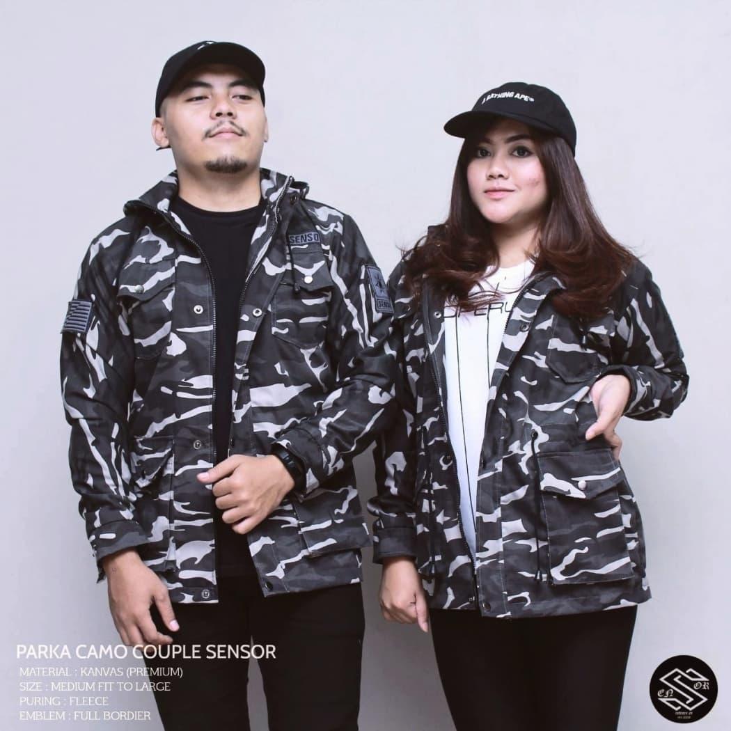 Jual Jaket Parka Loreng Army Couple Camo Sensor Distro Pria Jakarta Kemeja Club Bola Chelsea Blue