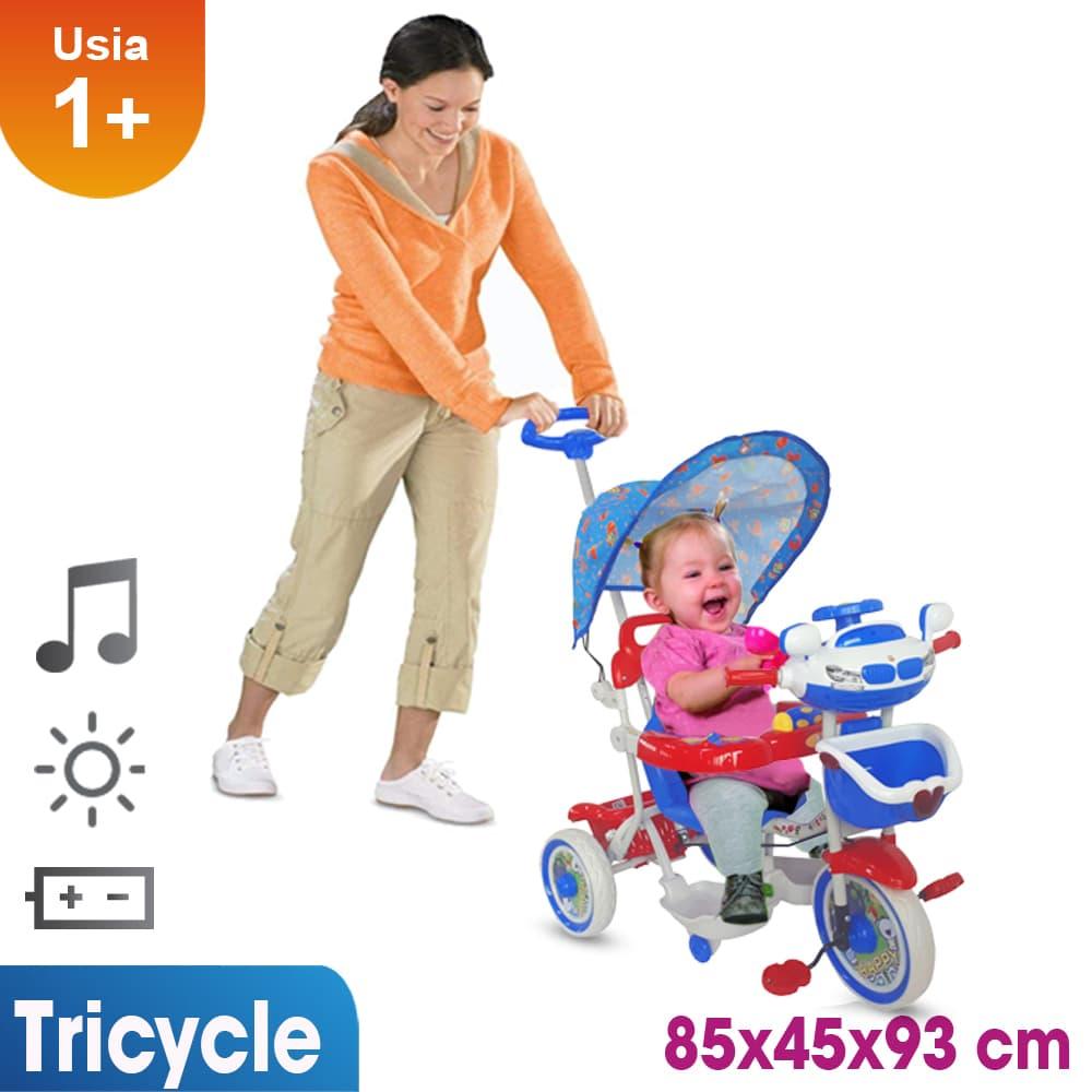 harga Sepeda Roda Tiga Mainan Anak T04 Merah Biru Blanja.com