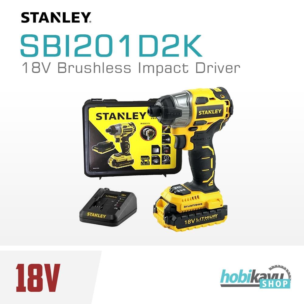 Jual Mesin Obeng Baterai Stanley Brushless Sbi201d2k 18v Impact Hammer Drill Driver Hobikayu Tokopedia