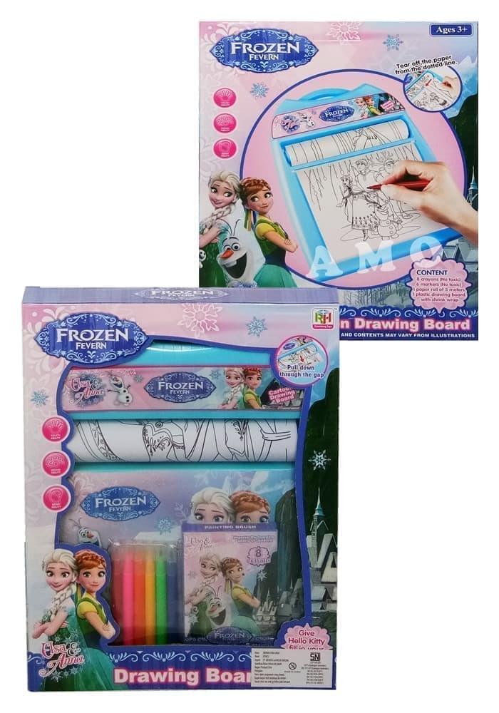 Jual Mainan Edukasi Anak Menggambar Mewarnai Drawing Board Frozen