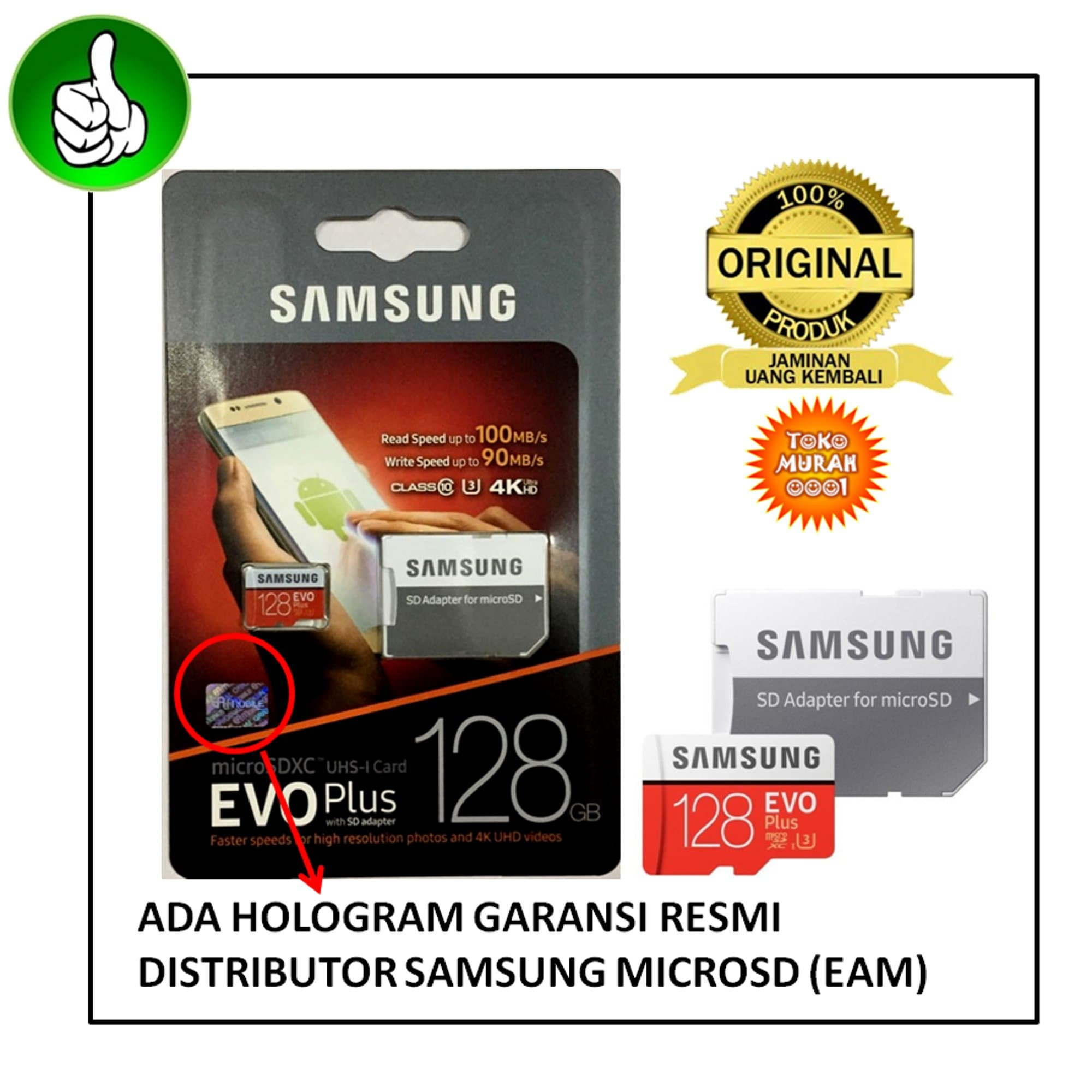 Samsung MicroSDHC EVO Class 10 UHS 1 95MB s 32GB With SD Adapter Source · Jual