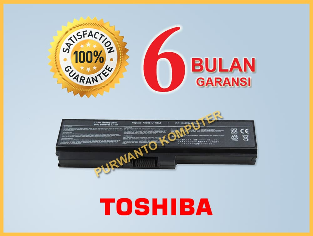 Jual Baterai Laptop Toshiba Satellite M300 M305 M500 M505 - PA3634U-1BRS - Purwanto Komputer | Tokopedia