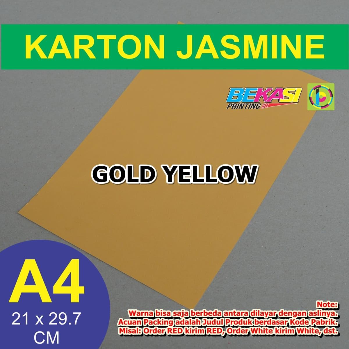 Jual Kertas Karton Jasmine Paper Flower A4 Gold Yellow Kuning Emas Umahkertas Undangan Pernikahan Bekasi Printing Tokopedia