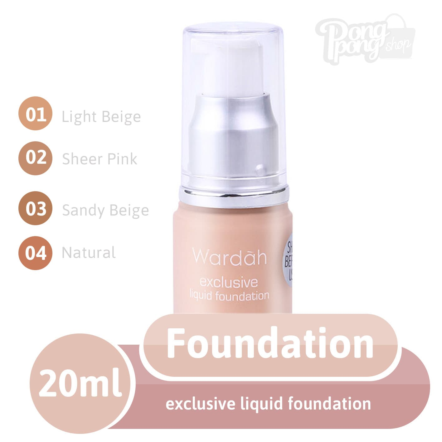 Jual Wardah Exclusive liquid foundation .