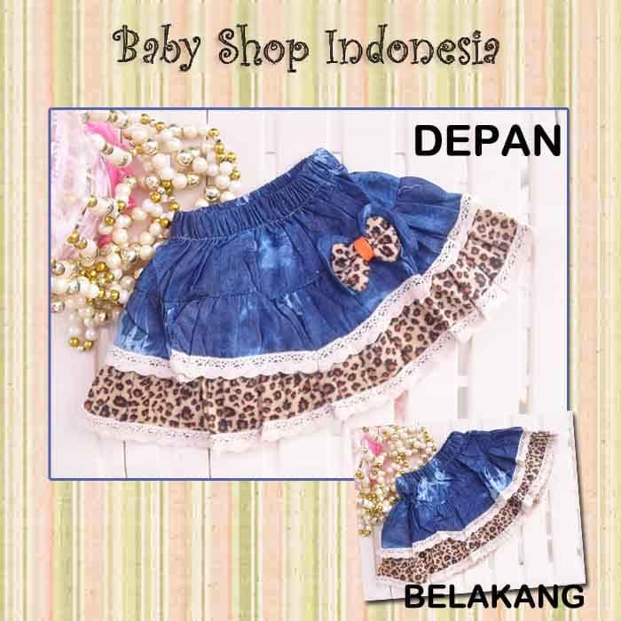 Rok Anak Murah Rok Anak Import Denim Skirt Lace Leopard - Blanja.com