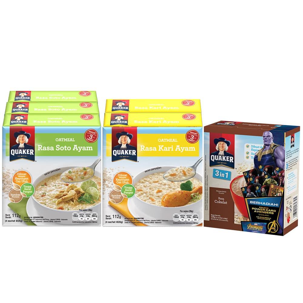 Jual Paket Sarapan Semangat Juang 45 B Quaker Instant Oatmeal Kari Ayam Box 4s 6 Pcs Gwp P