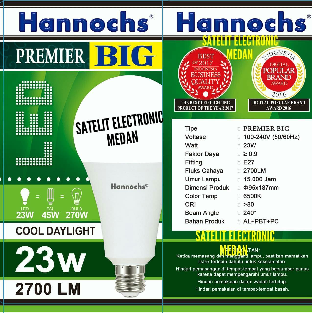 Jual Lampu Led Hannochs Premier Big 23 W Watt Bergaransi 3 Hemat Satelit Electronic Tokopedia