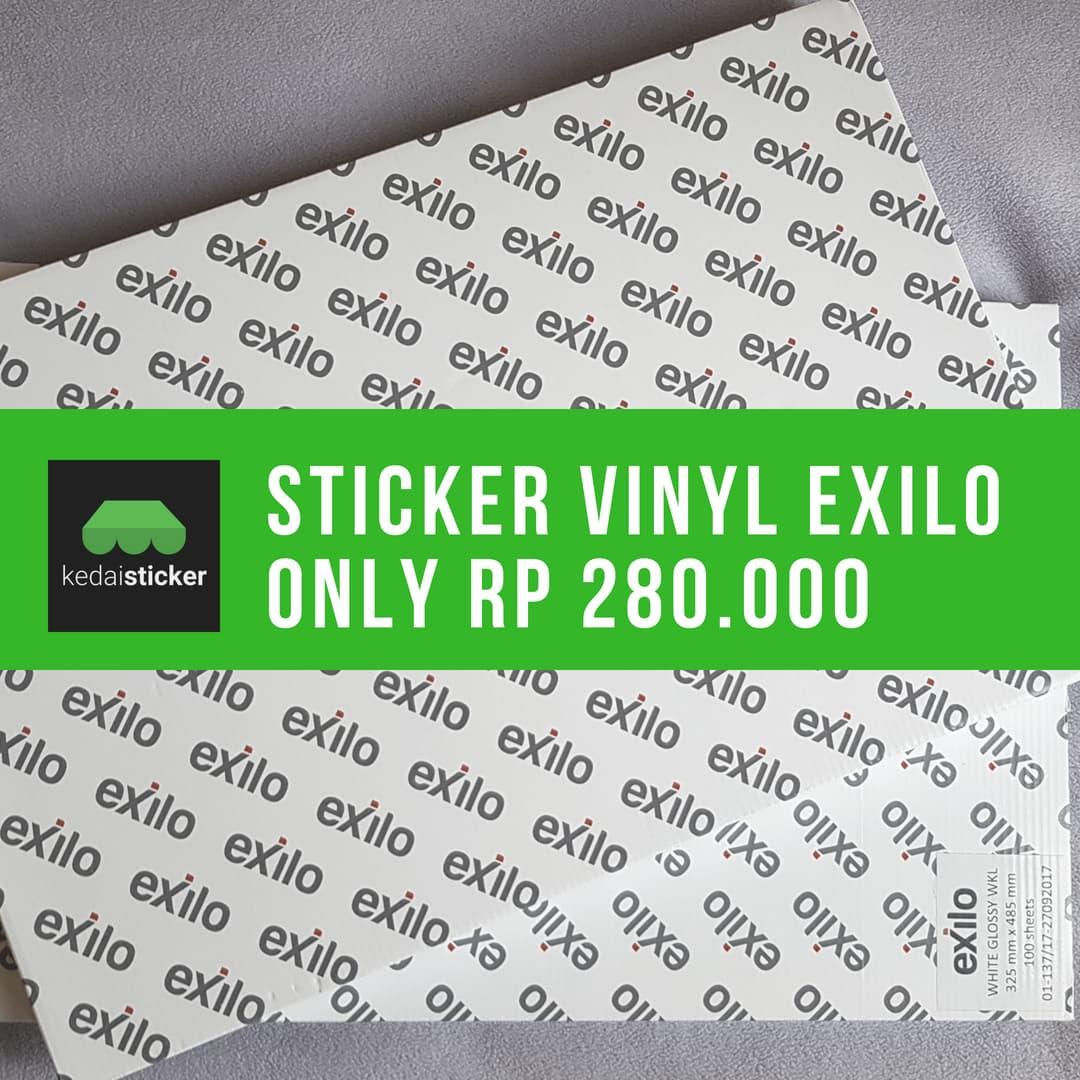 Jual promo stiker vinyl a3 exilo sticker glossy matte