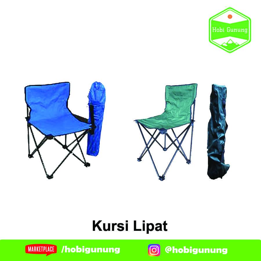 Jual Kursi Lipat Sandaran Camping Portable Ringan Mancing Santai Tas Ransel Travel Kemah Bebas