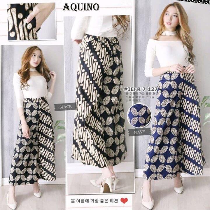 Aquino Cullote Bawahan Celana Batik Modern Panjang Wanita