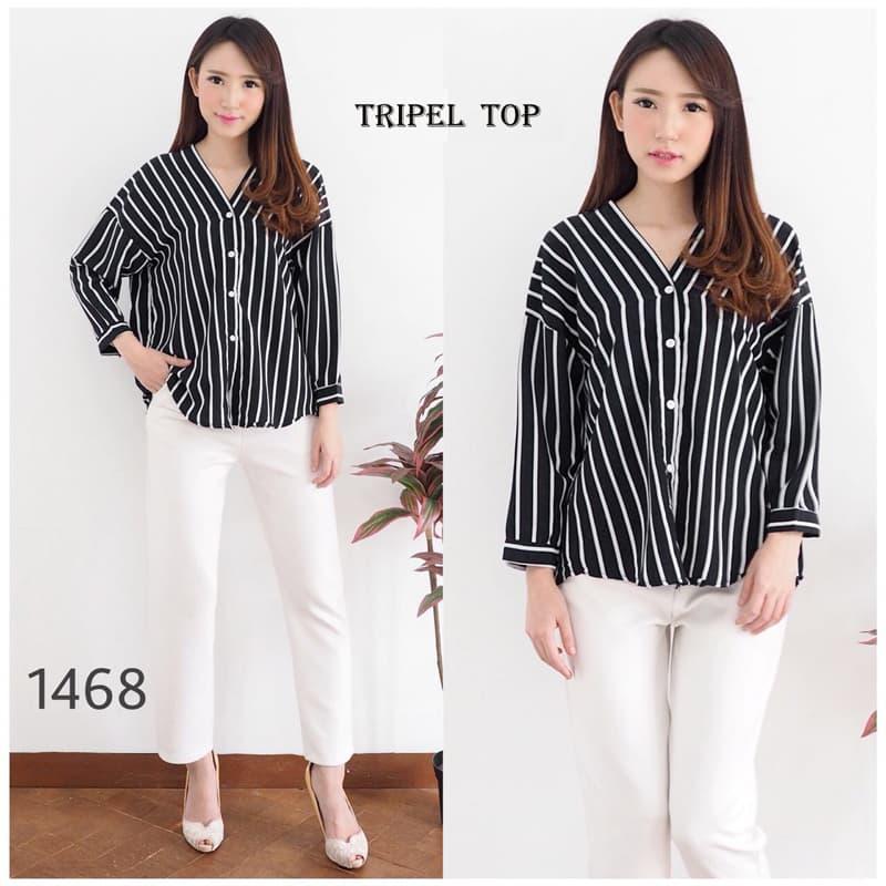 Tripel Top - Atasan Blouse Wanita/baju Wanita