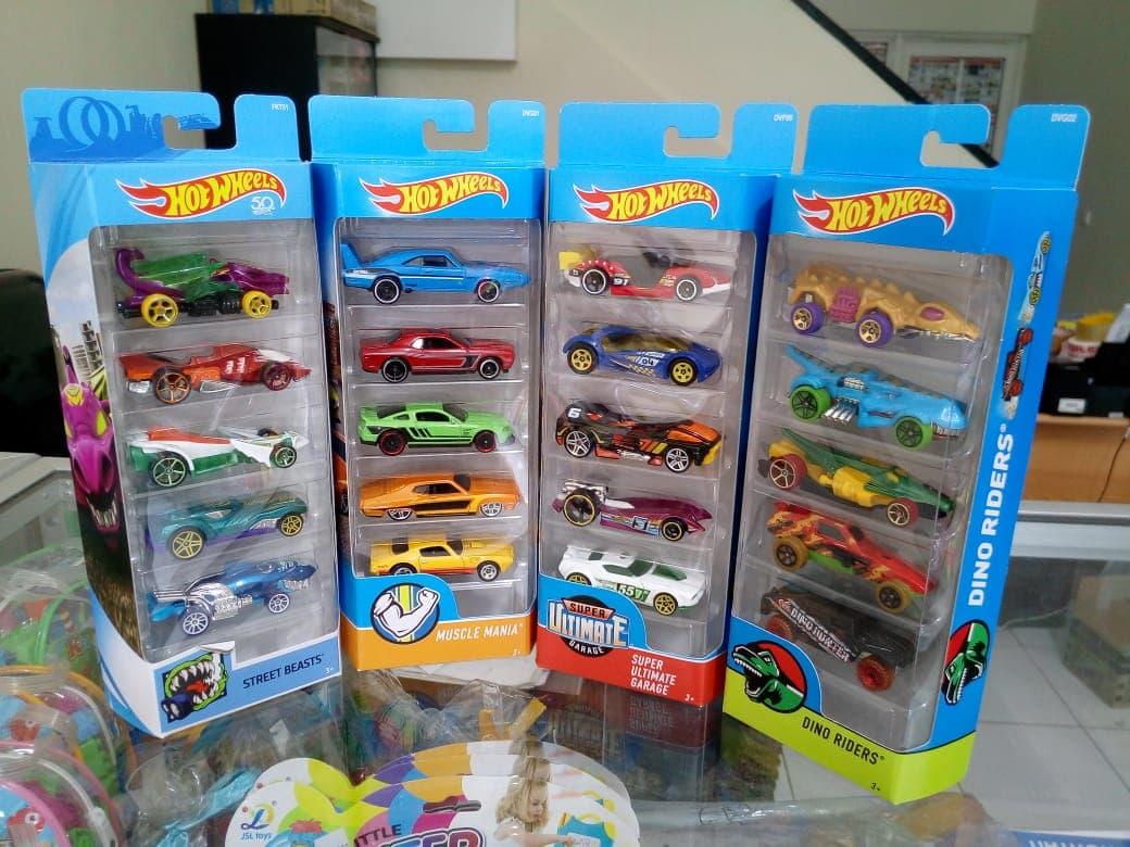 Hotwheels Gift Pack Isi 5 Hot Wheels Diecast Car Original - Blanja.