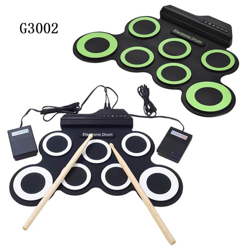 Portable Roll Up Drum Pad Set Kit 9 Pad