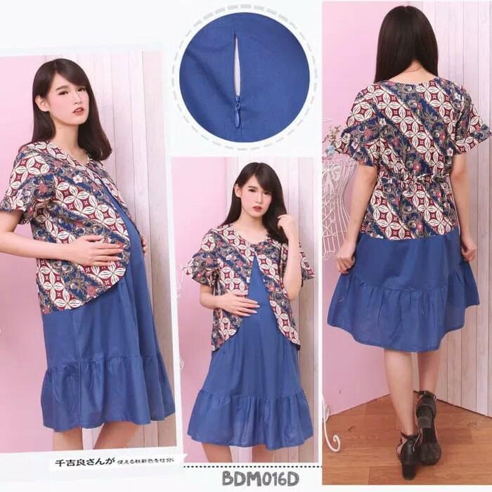 Jual Baju Kerja Menyusui Baju Kerja Hamil Batik Ibu Hamil Dress Batik Hamil Biru Kota Malang Toko Ibu Hamil Tokopedia