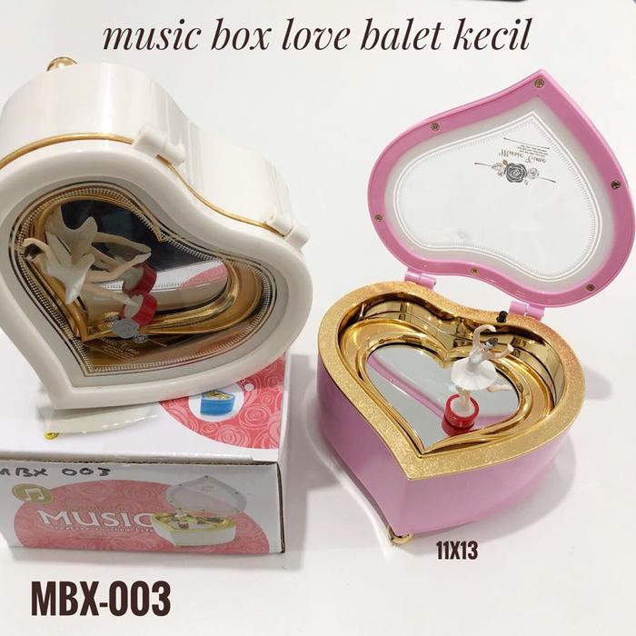 MUSIC BOX LOVE MINI BALLERINA / KOTAK MUSIK SOUVENIR LUCU MURAH